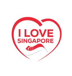 i love singapore vector image