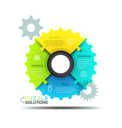 modern infographic design layout jigsaw puzzle in vector image