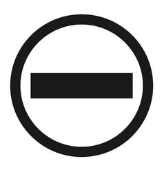 no entry sign line icon vector image vector image
