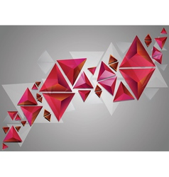 Red 3d Triangles vector image vector image