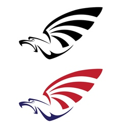 set eagle vector image vector image