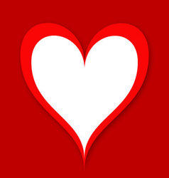 valentines heart vector image vector image