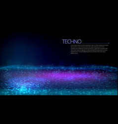 3d futuristic circuit technology concept dark back vector image