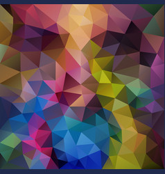 Abstract polygon square background rainbow vector