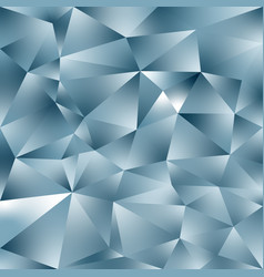 Abstract polygonal square background silver blue vector