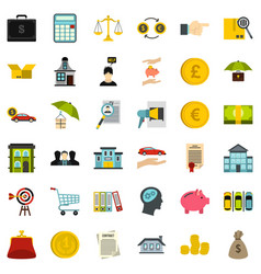 Accommodation icons set flat style vector