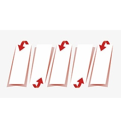 Arrows and papers with shadow collection vector