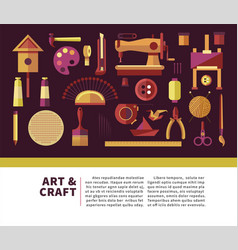 art and craft promotional info poster with special vector image