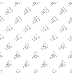 Badminton shuttlecock pattern seamless vector image