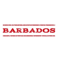 Barbados Watermark Stamp vector image