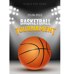 basketball tournament background vector image
