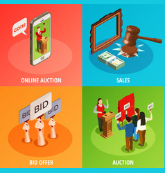 Bid offers design concept vector