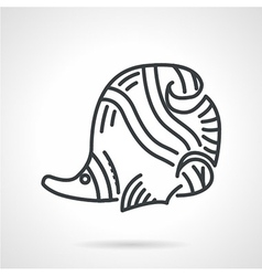 Black line icon for butterflyfish vector image