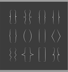 Braces signs curly brackets symbols set vector