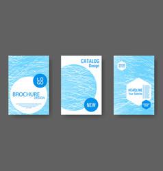 Brochure layout design templates vector