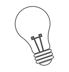 bulb light energy electricity objetc vector image