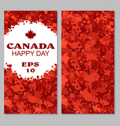 canada flag with fireworks for celebrate the vector image