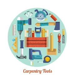 Carpentry tools set vector