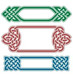 Celtic frame set vector