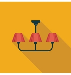Chandelier Flat icon vector