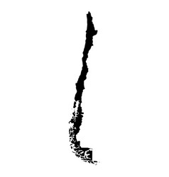 Chile - solid black silhouette map of country area vector