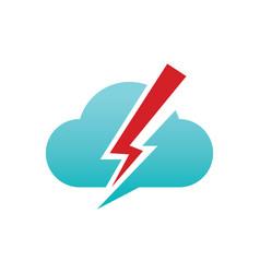 Cloud bolt logo vector