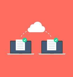 cloud computing concept design share documents vector image