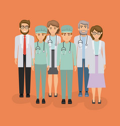 color background with group of medical vector image