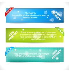 Color Banner Abstract Design Template vector