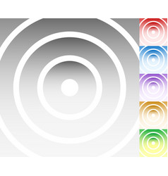 Colourful background set with circle oval shapes vector