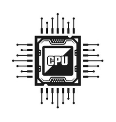 Computer cpu object or design element vector