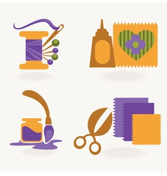 Craft and hand made collection vector