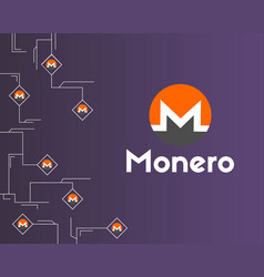 Cryptocurrency monero circuit networking vector