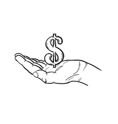 currency - dollar vector image