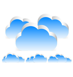 different 3d cloud compositions w transparent vector image