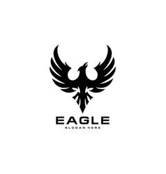 eagle bird logo template icon vector image