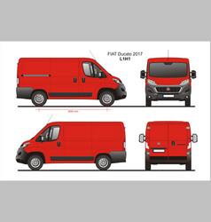 Fiat ducato cargo delivery van 2017 l1h1 vector