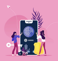 finger recognition concept online security vector image