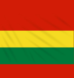 flag bolivia swaying in wind realistic vector image