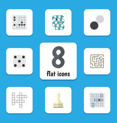 Flat icon play set of multiplayer gomoku pawn vector