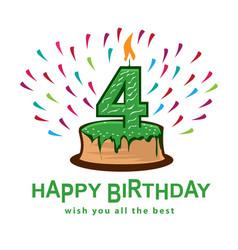 fourth birthday vector image
