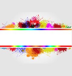 Frame on splash color vector