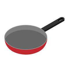 fry pan isometric view vector image