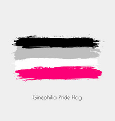 ginephilia lgbt watercolor flag vector image