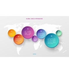 Global infographic concept vector image