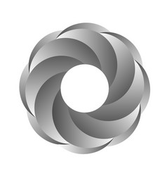 Gray iris abstract ring vector