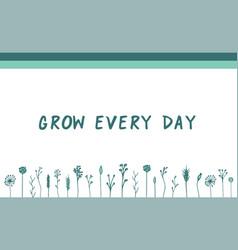 green herbal motivational banner vector image