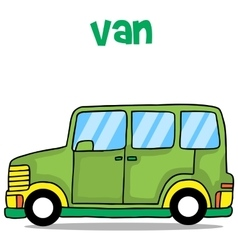 Green van cartoon vector