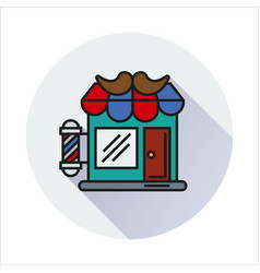 hair salon store line icon vector image
