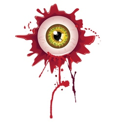 Halloween Bloody Eyeball vector image